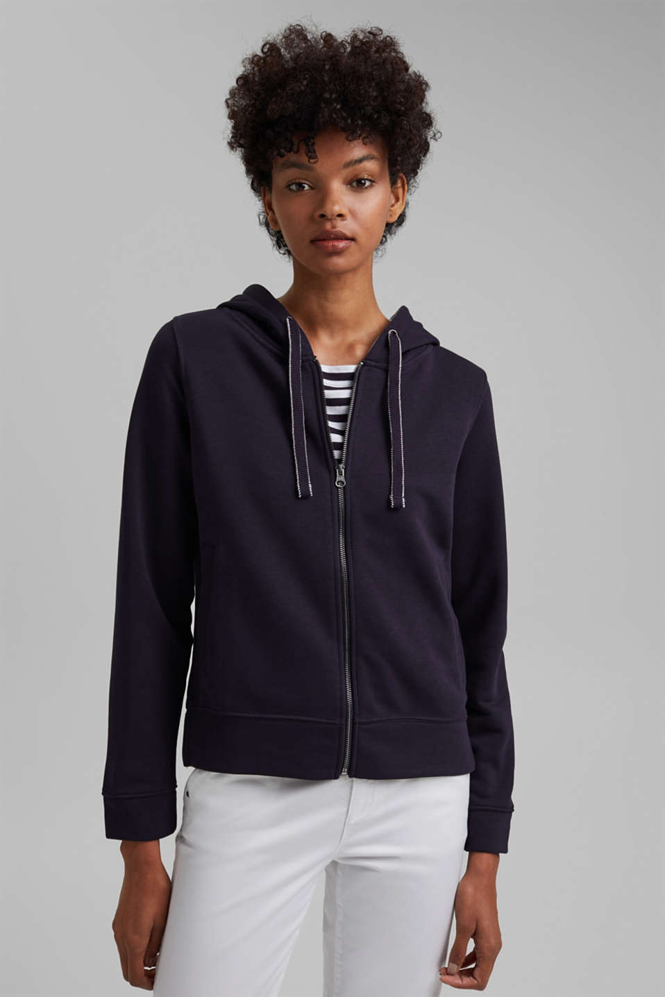 edc - Recycled: zip-up hoodie containing organic cotton