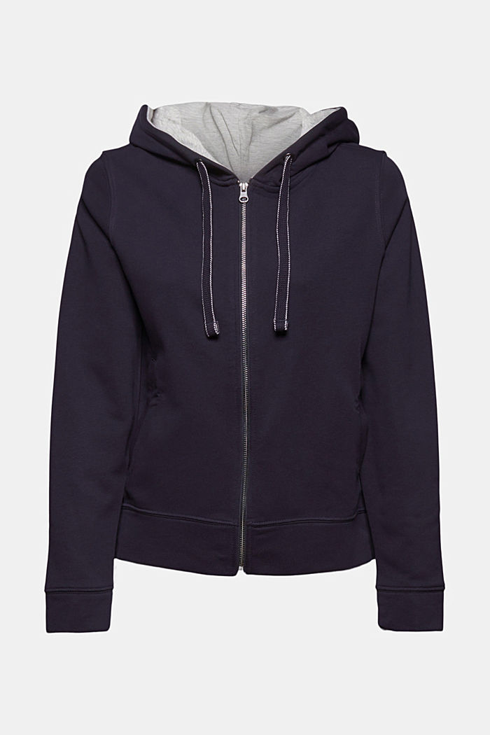 Recycelt: Zipper-Hoodie mit Organic Cotton, NAVY, detail image number 6