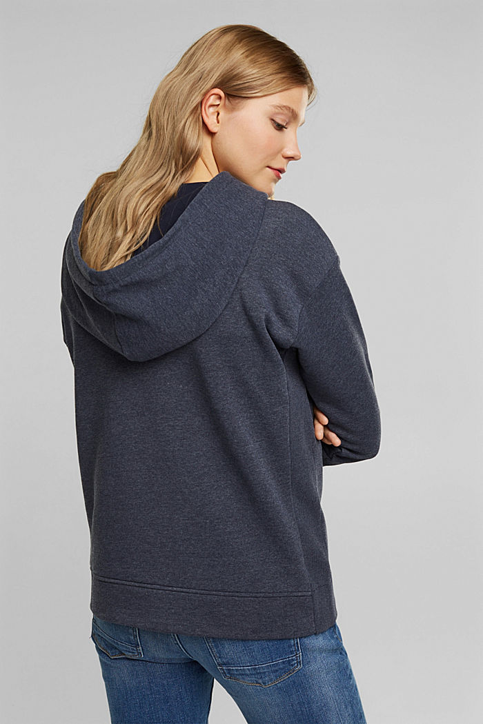 Recycled: hoodie containing organic cotton, NAVY, detail image number 3