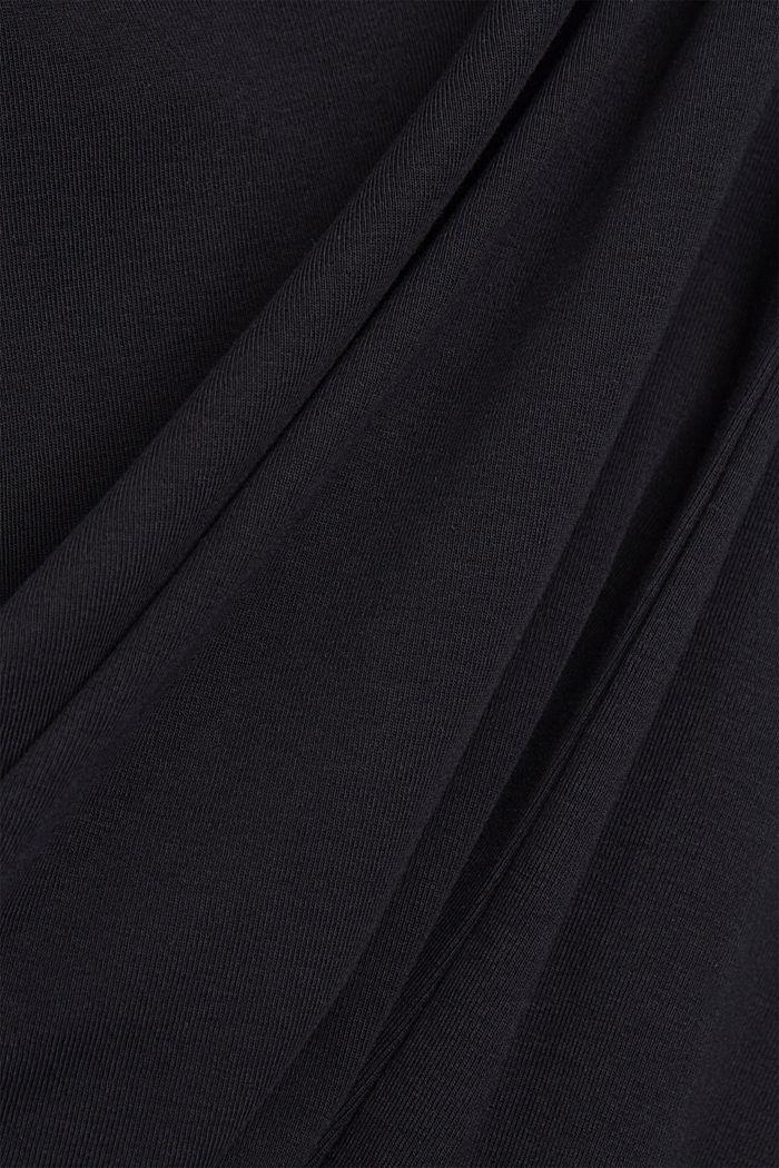 Koszulka z nadrukiem z 100% bawełny ekologicznej, BLACK, detail image number 4