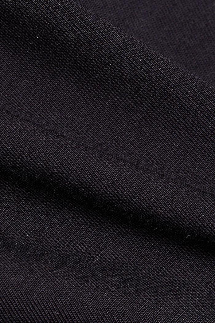 T-Shirt aus 100% Organic Cotton, BLACK, detail image number 4