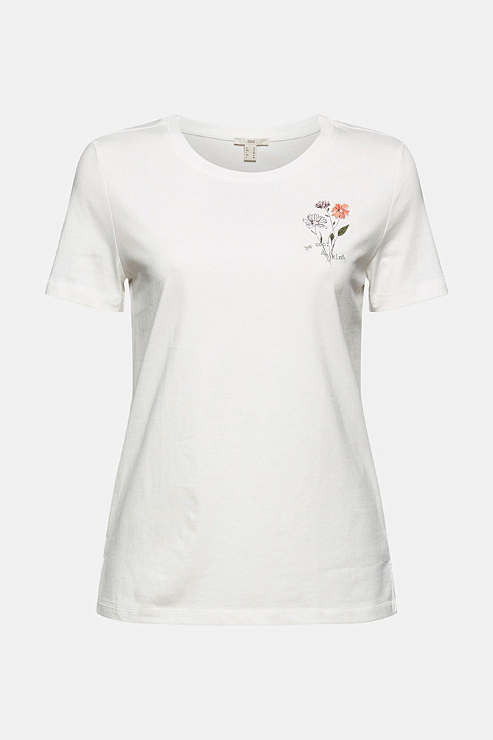 T-Shirt aus 100% Organic Cotton, OFF WHITE, detail image number 6