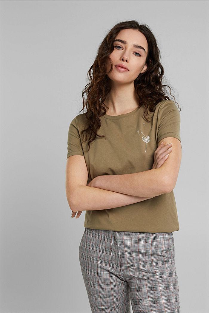 T-shirt, 100% bawełny organicznej, LIGHT KHAKI, detail image number 0