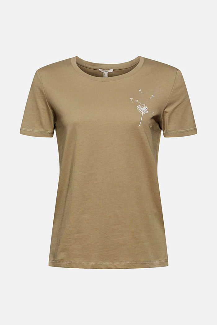 T-shirt, 100% bawełny organicznej, LIGHT KHAKI, detail image number 4