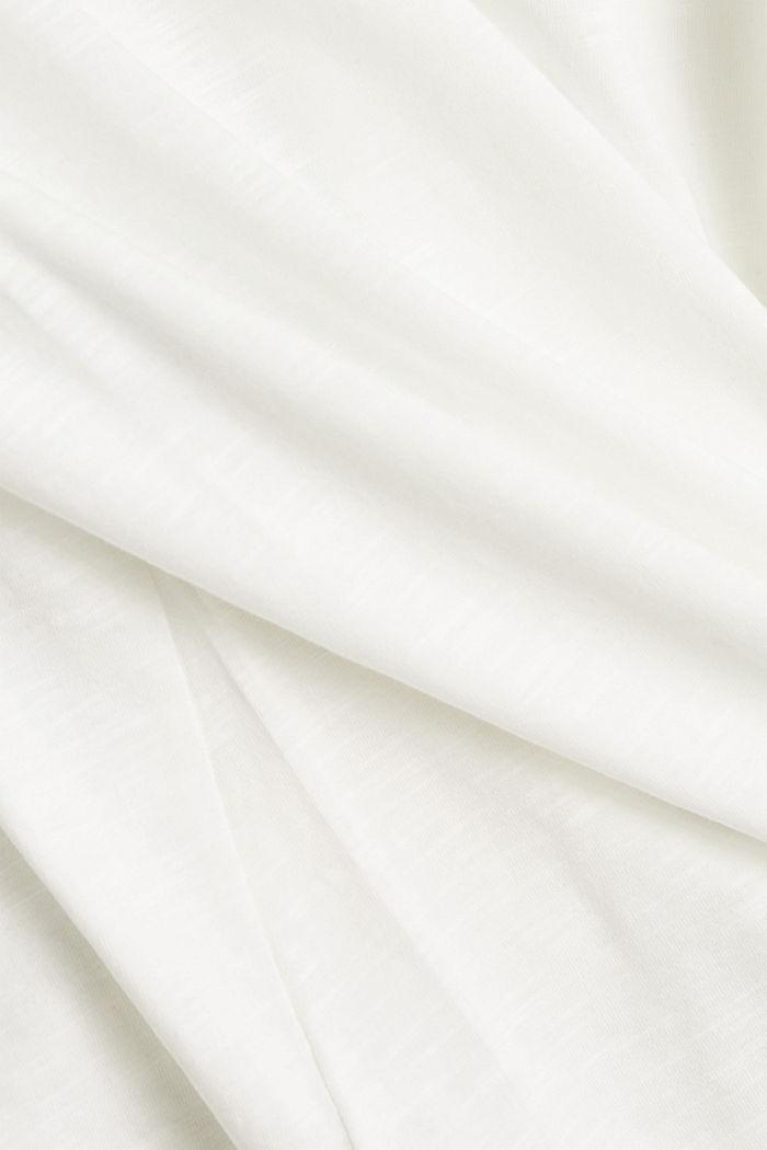 Langærmet overdel af 100% økologisk bomuld, OFF WHITE, detail image number 4