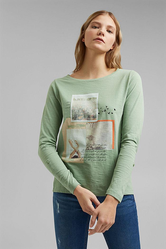 Longsleeve van 100% organic cotton, DUSTY GREEN, detail image number 0