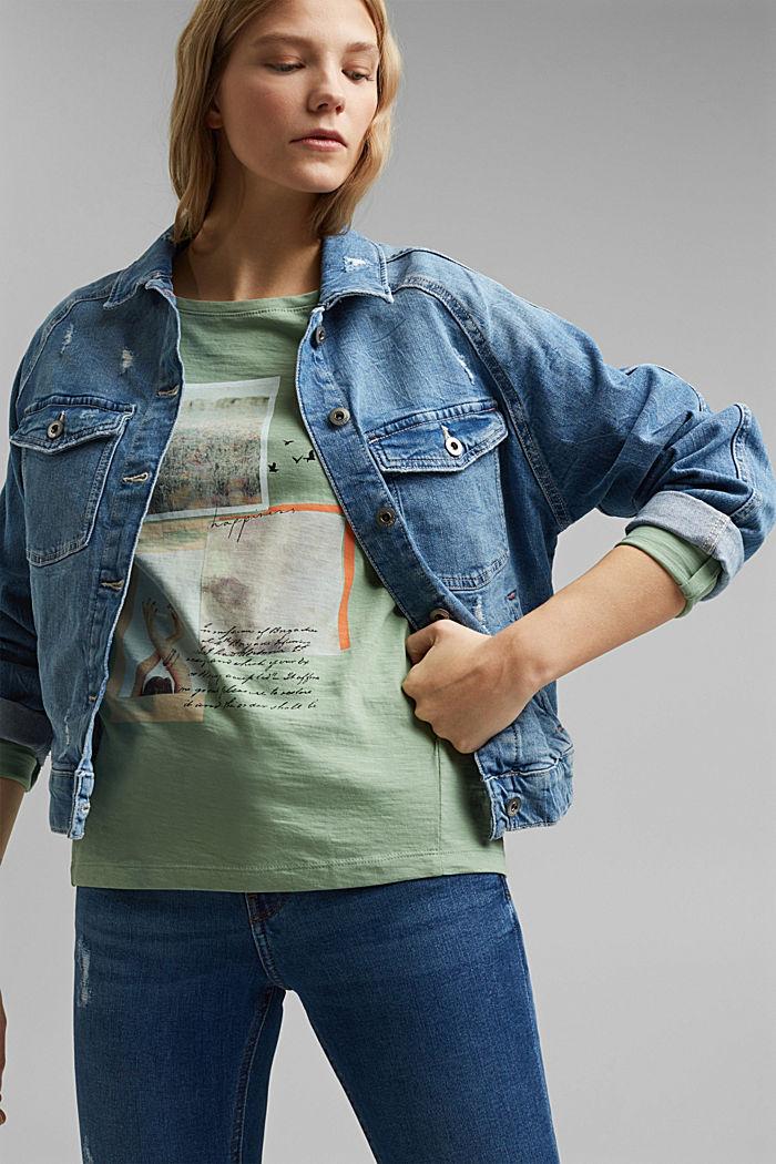 Longsleeve van 100% organic cotton, DUSTY GREEN, detail image number 5