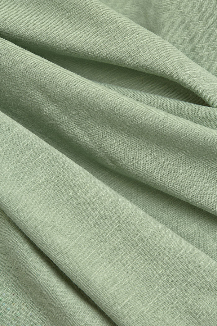 Long sleeve top made of 100% organic cotton, DUSTY GREEN, detail image number 4
