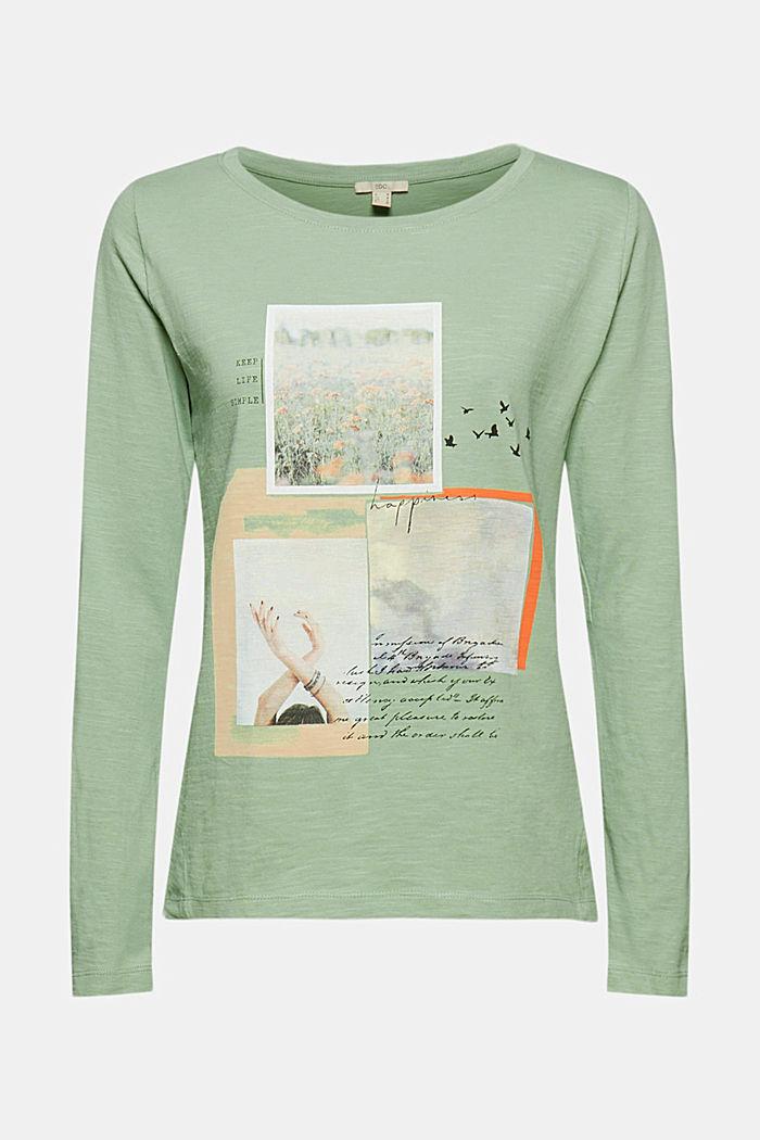 Longsleeve van 100% organic cotton, DUSTY GREEN, detail image number 6
