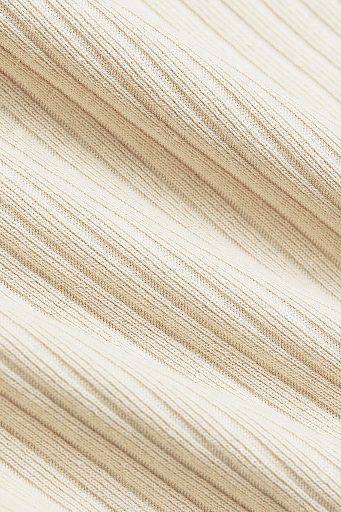 Koszulka henley z falbankami, bawełna organiczna, BEIGE, detail image number 4
