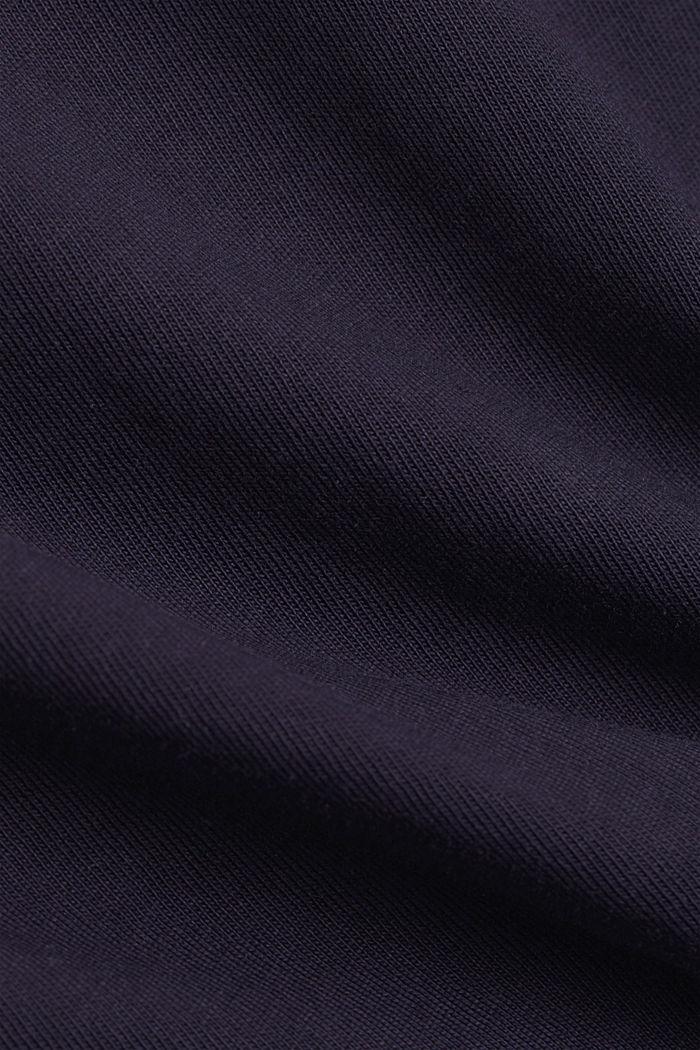 Longsleeve mit Besatz mit Organic Cotton, NAVY, detail image number 4