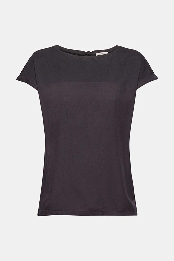 T-shirt à teneur en coton biologique et viscose, BLACK, detail image number 6