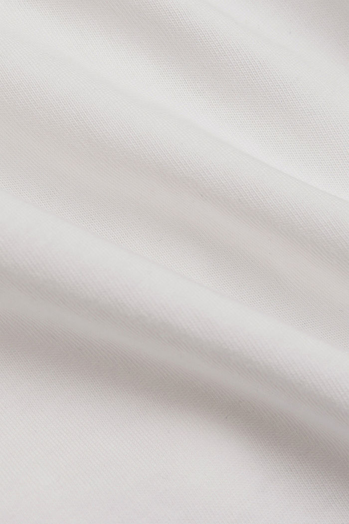 T-Shirt mit Organic Cotton und Viskose, OFF WHITE, detail image number 4