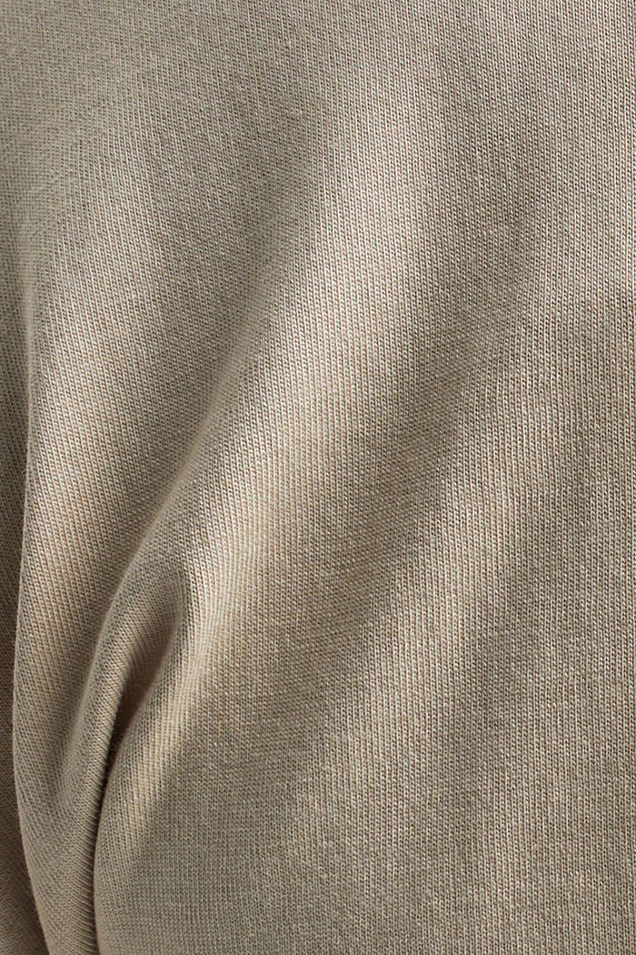 T-shirt with organic cotton and viscose, BEIGE, detail image number 4