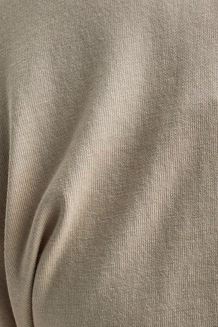 T-Shirt mit Organic Cotton und Viskose, BEIGE, detail image number 4