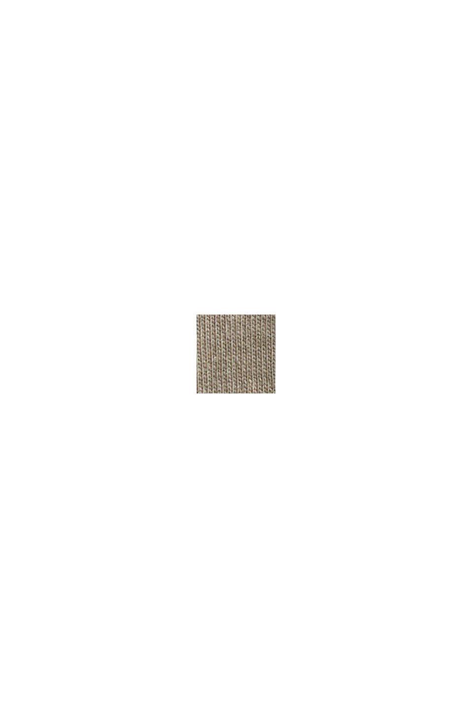 T-shirt à teneur en coton biologique et viscose, BEIGE, swatch