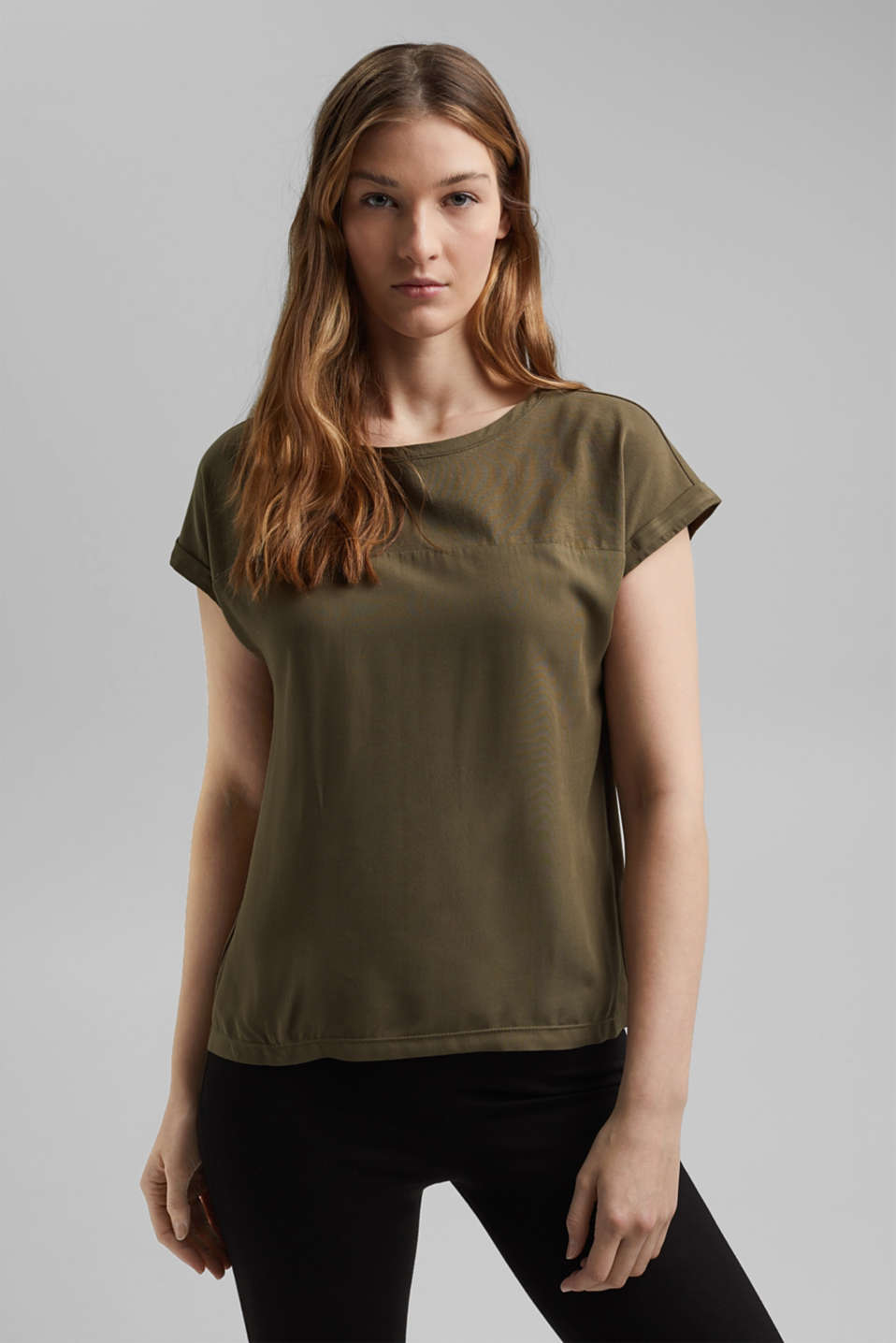 edc - T-shirt with organic cotton and viscose