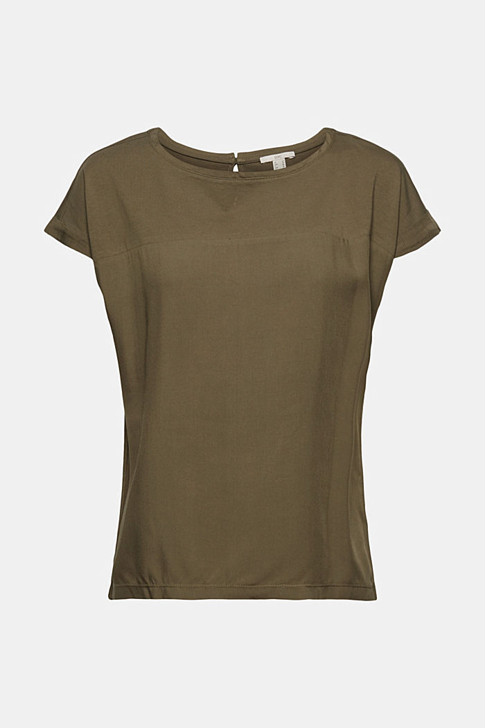 T-shirt met organic cotton en viscose