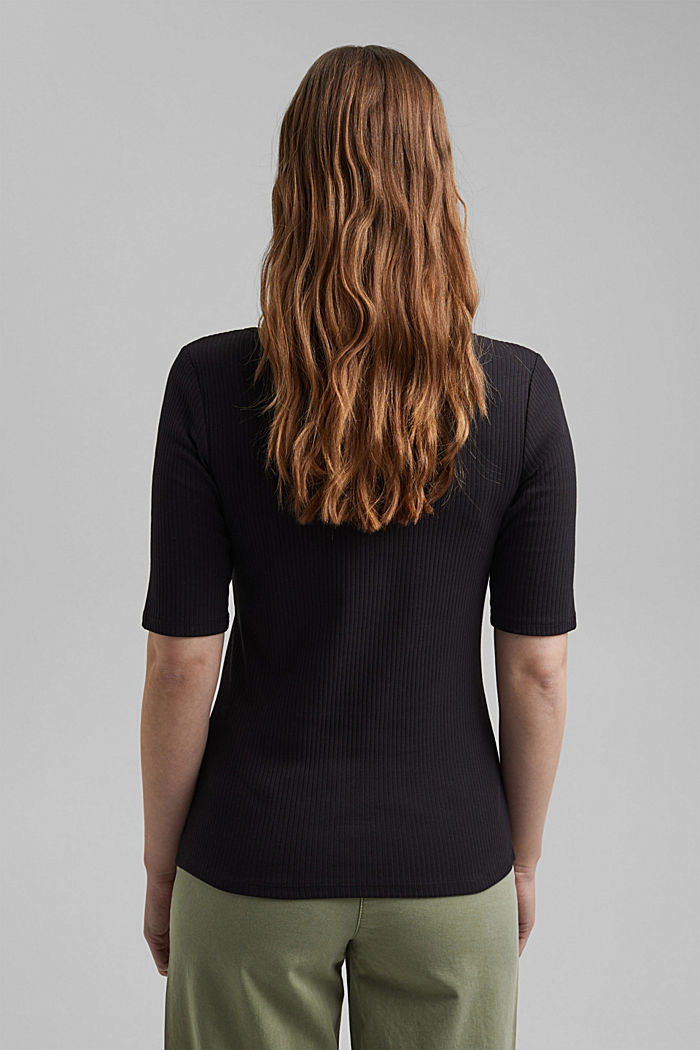 Henley T-shirt made of organic cotton, BLACK, detail image number 3