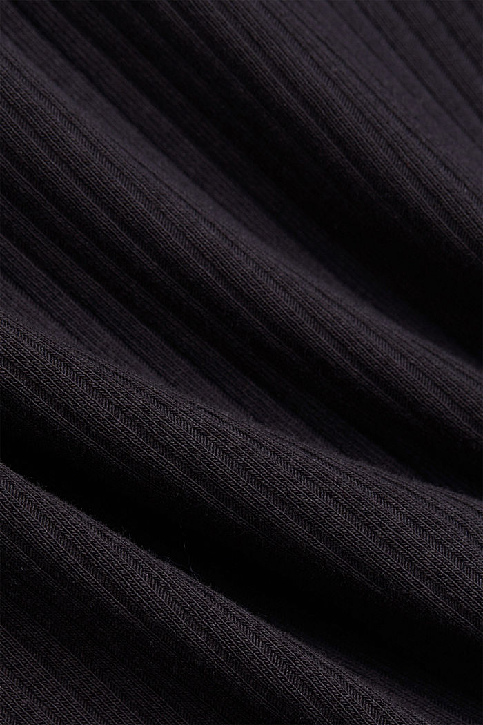 Henley T-shirt made of organic cotton, BLACK, detail image number 4