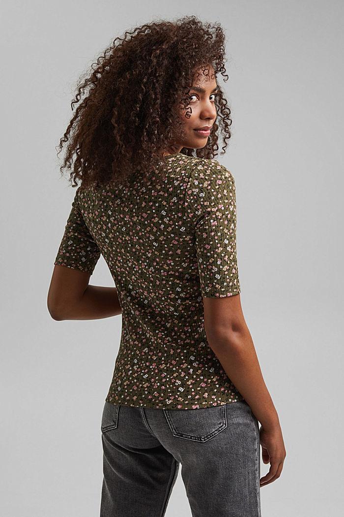 Henley T-shirt made of organic cotton, KHAKI GREEN, detail image number 3