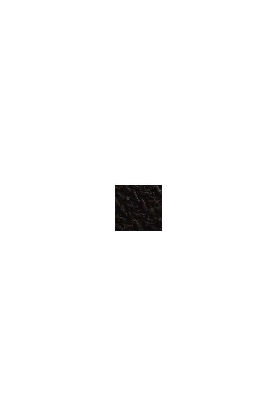 Gestreiftes Longsleeve aus LENZING™ ECOVERO™, BLACK, swatch