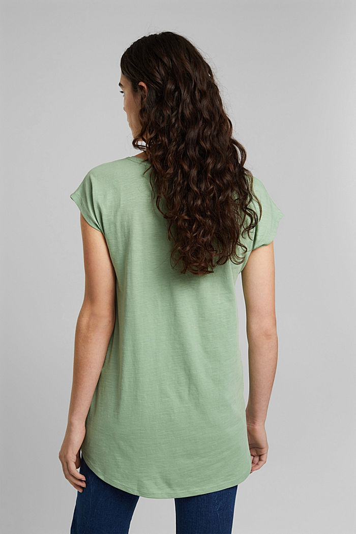 T-shirt made of 100% organic cotton, DUSTY GREEN, detail image number 3