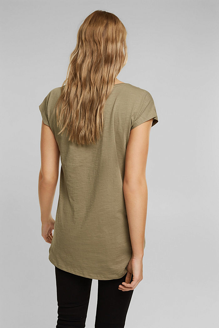 T-Shirt aus 100% Organic Cotton, LIGHT KHAKI, detail image number 3