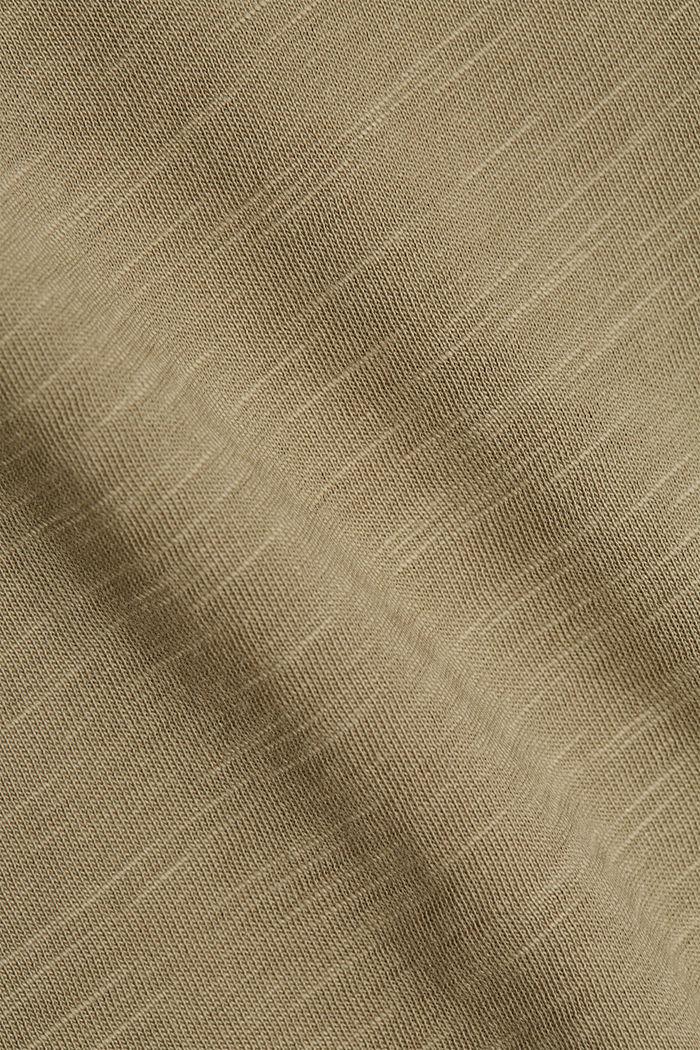 T-Shirt aus 100% Organic Cotton, LIGHT KHAKI, detail image number 4