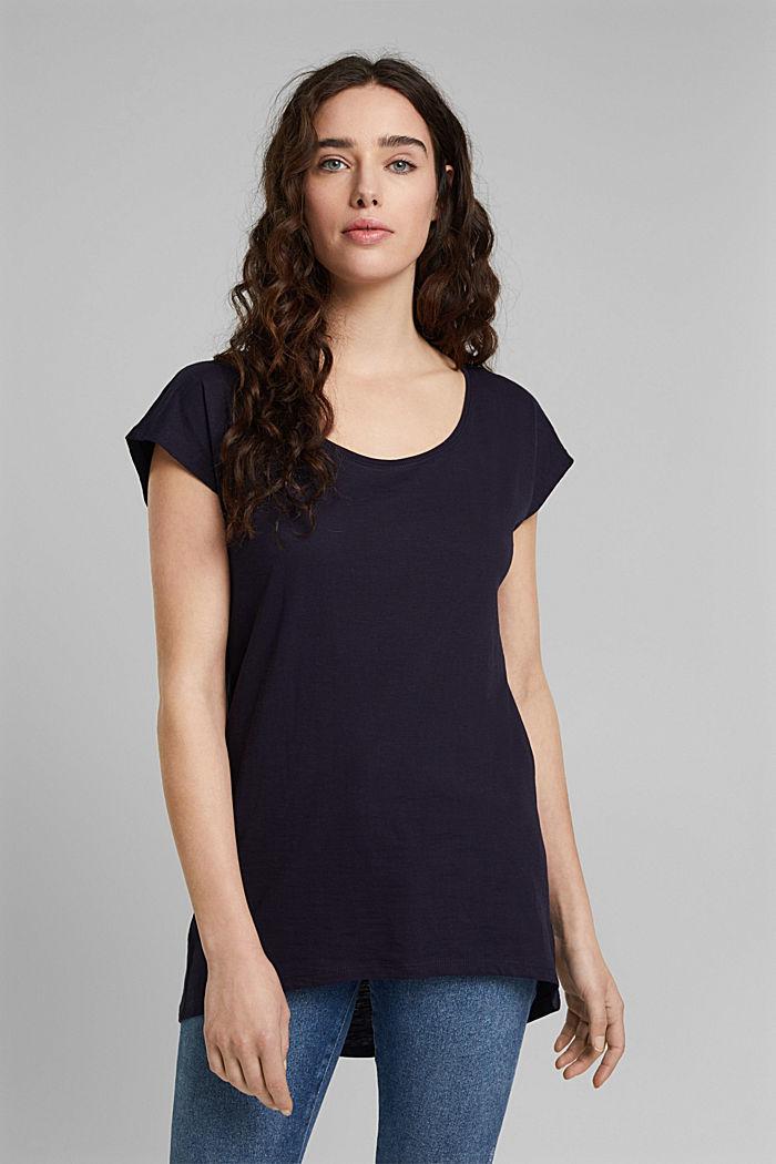 T-Shirt aus 100% Organic Cotton, NAVY, detail image number 0