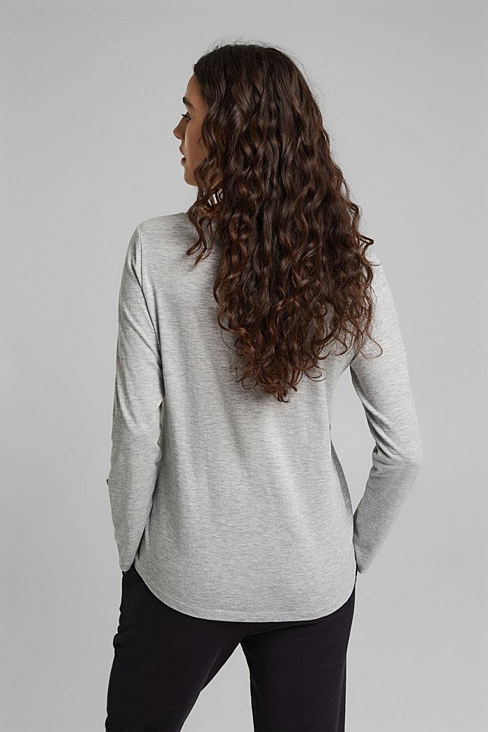 Print-Shirt mit Organic Cotton, LIGHT GREY, detail image number 3
