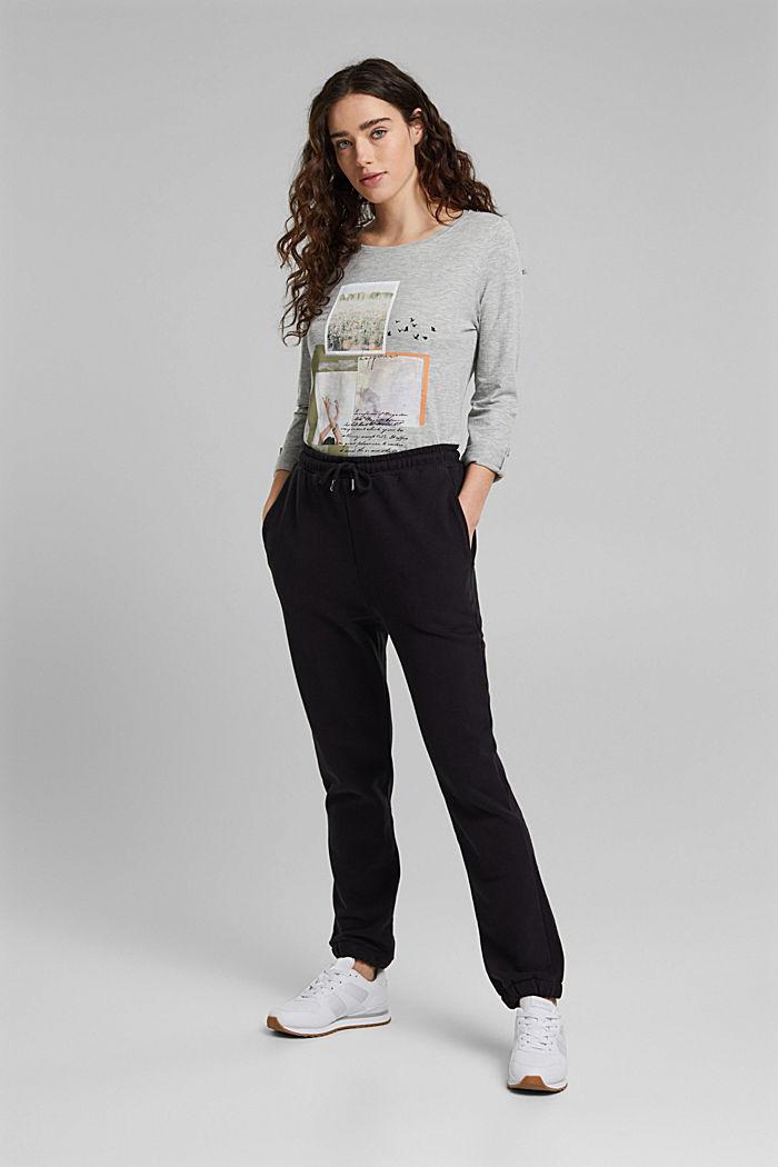 Print-Shirt mit Organic Cotton, LIGHT GREY, detail image number 1