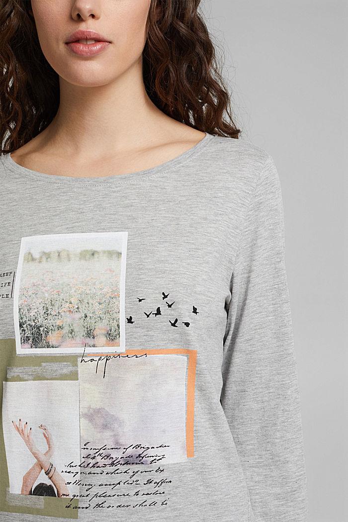 Print-Shirt mit Organic Cotton, LIGHT GREY, detail image number 2