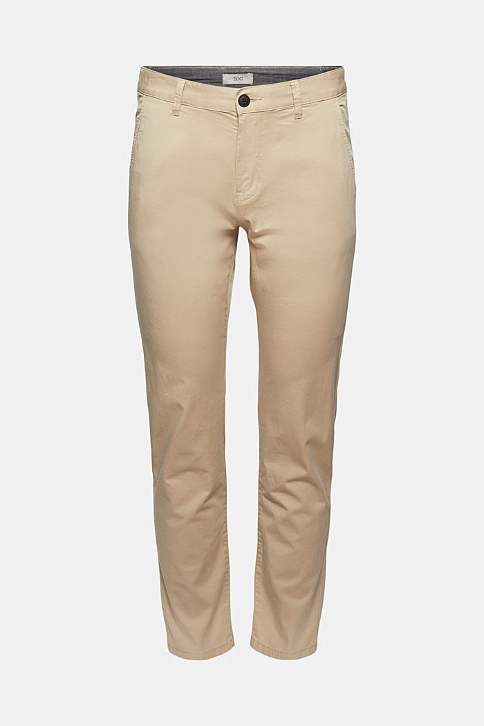 Organic cotton chinos with an elasticated waistband