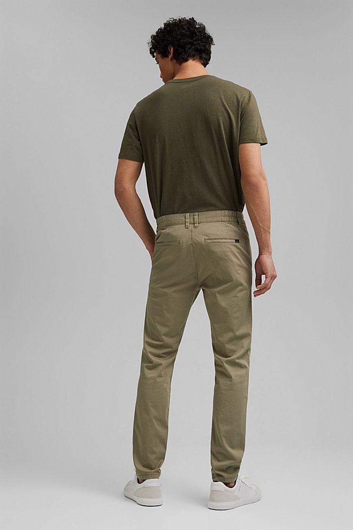 Pantalones chinos con cintura elástica, algodón ecológico, LIGHT KHAKI, detail image number 3