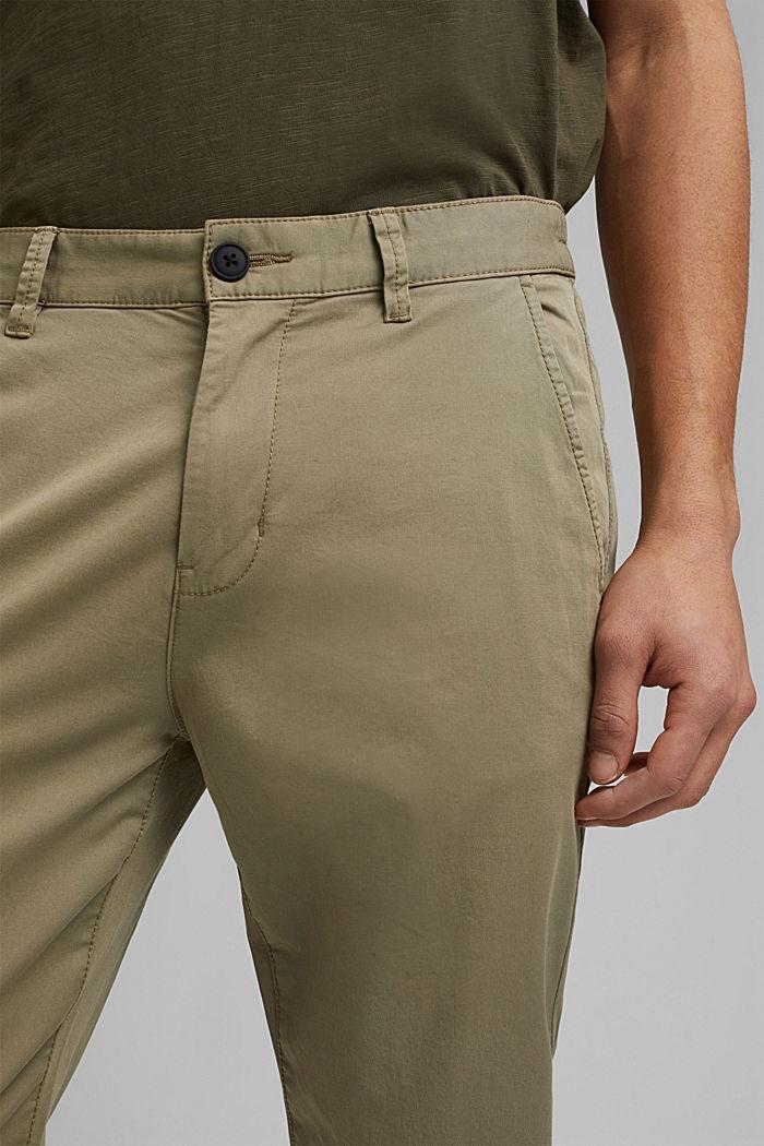 Pantalones chinos con cintura elástica, algodón ecológico, LIGHT KHAKI, detail image number 2