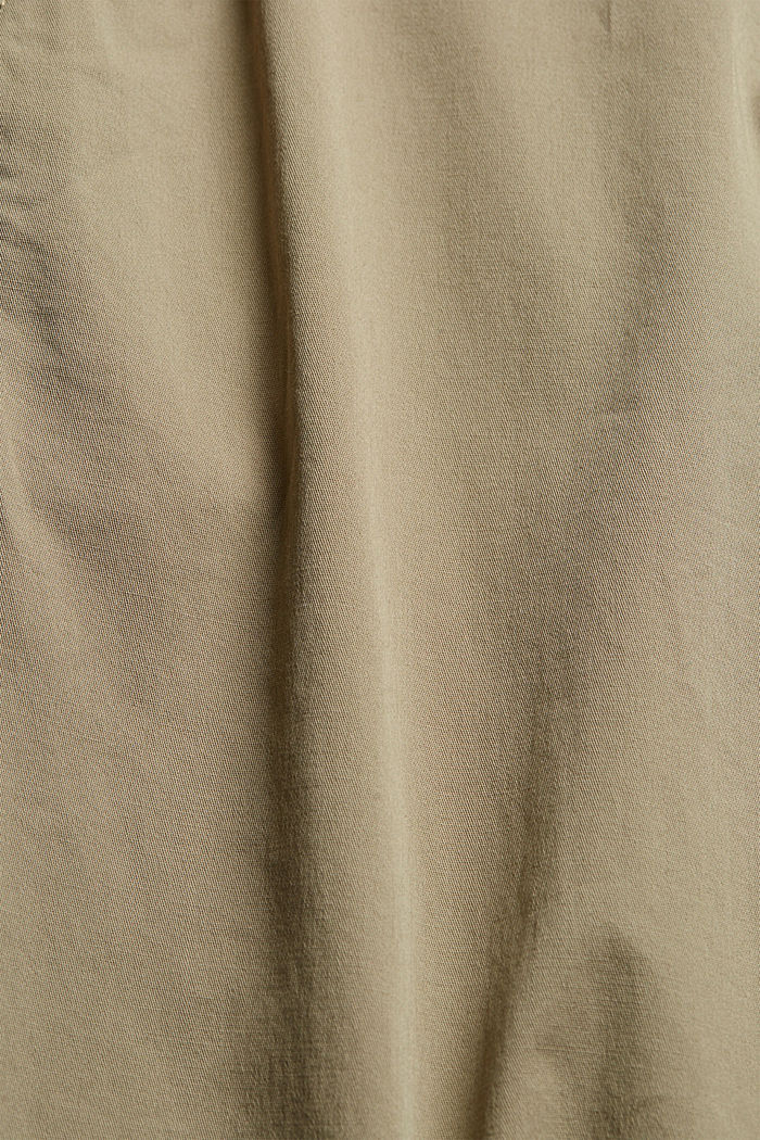 Pantalones chinos con cintura elástica, algodón ecológico, LIGHT KHAKI, detail image number 4