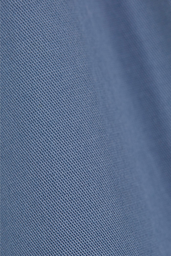 Organic cotton chinos with an elasticated waistband, LIGHT BLUE, detail image number 4
