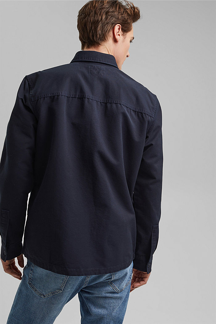 Twill overshirt made of 100% organic cotton, NAVY, detail image number 3