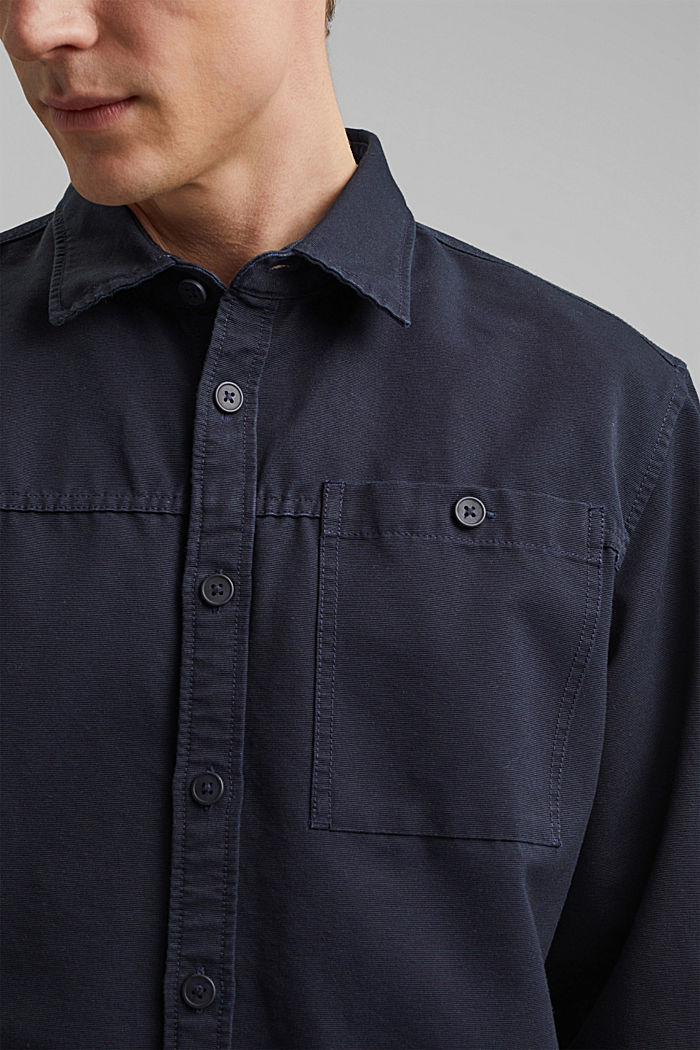 Twill overshirt made of 100% organic cotton, NAVY, detail image number 5