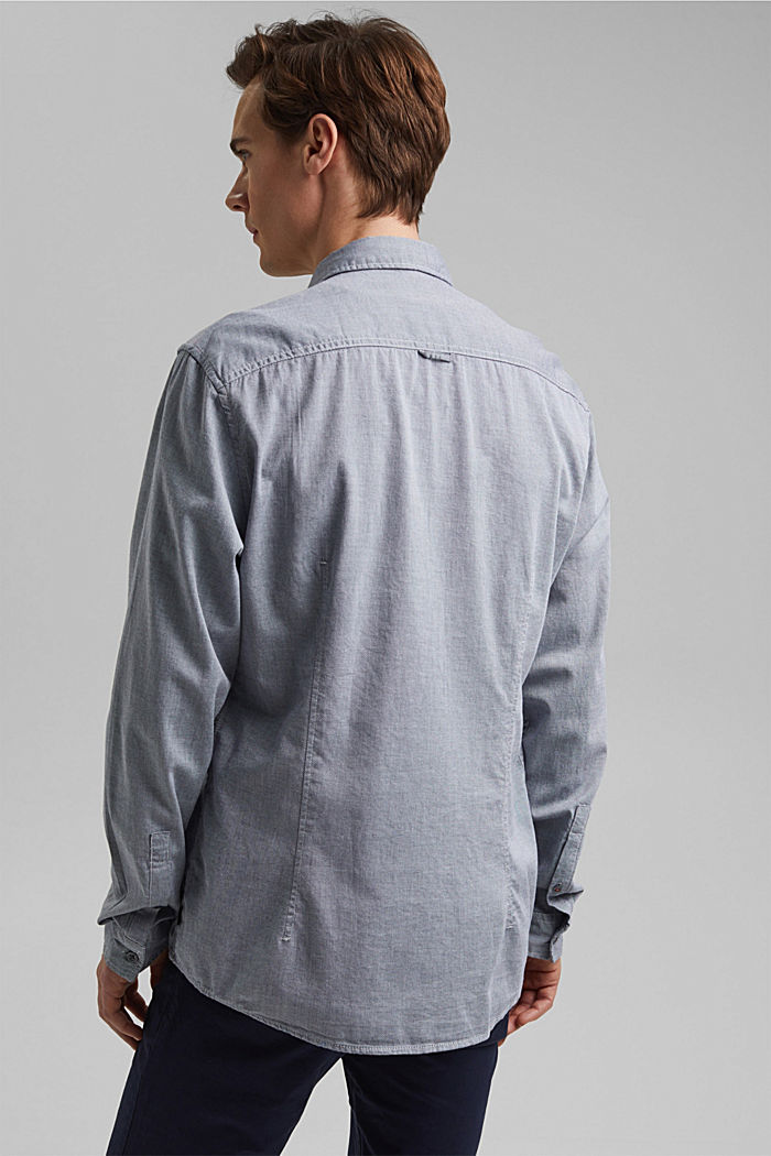 Textured shirt in organic cotton, NAVY, detail image number 3