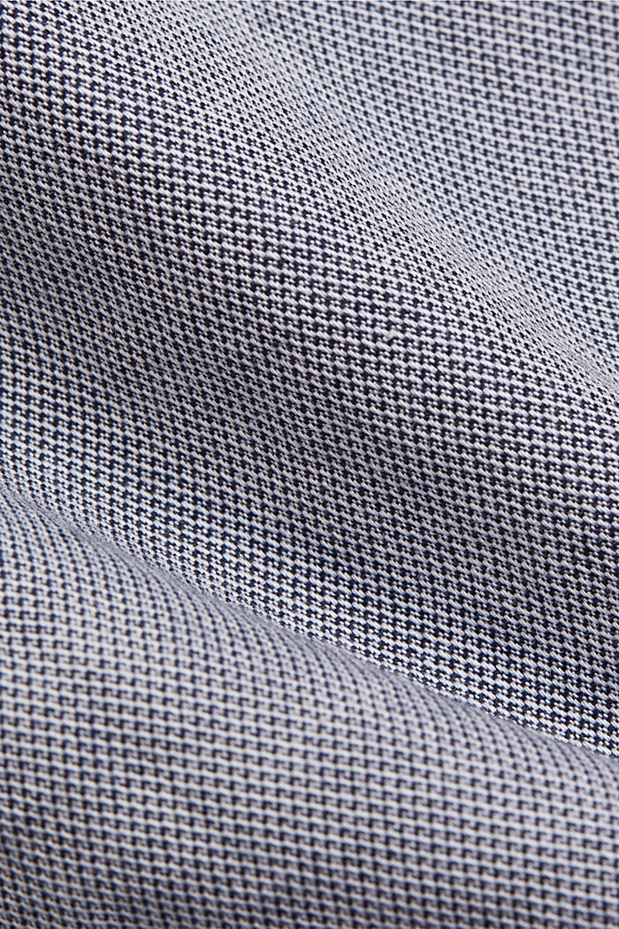 Textured shirt in organic cotton, NAVY, detail image number 4