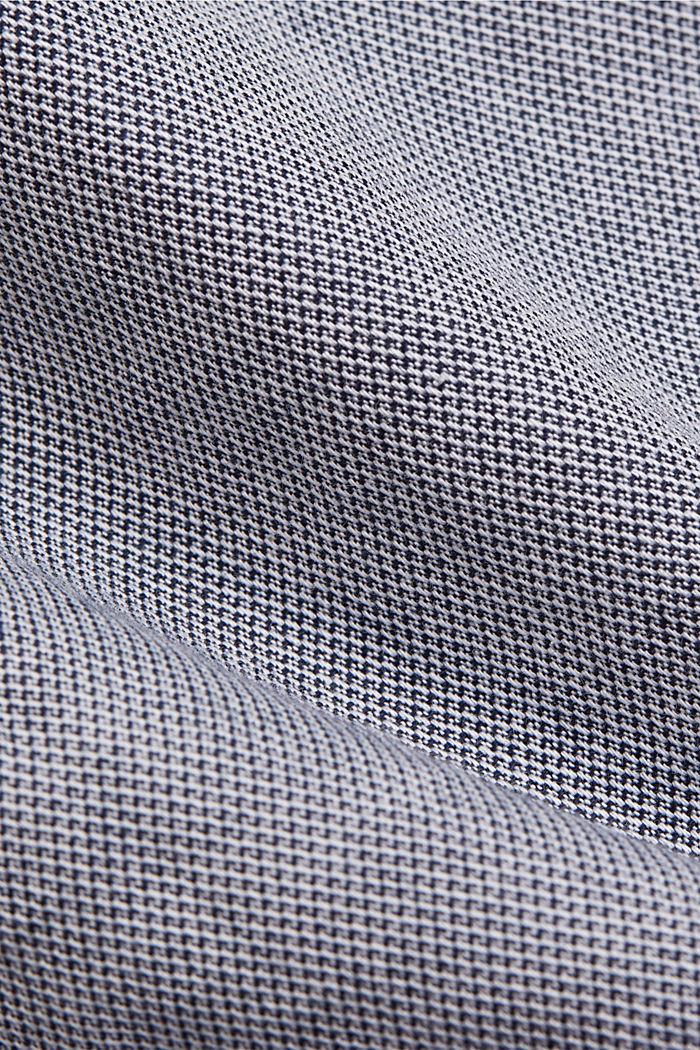 Chemise texturée en coton biologique, NAVY, detail image number 4