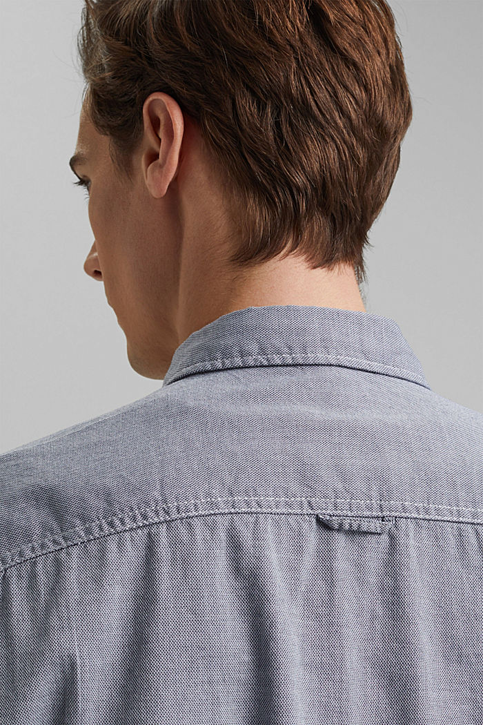 Textured shirt in organic cotton, NAVY, detail image number 5