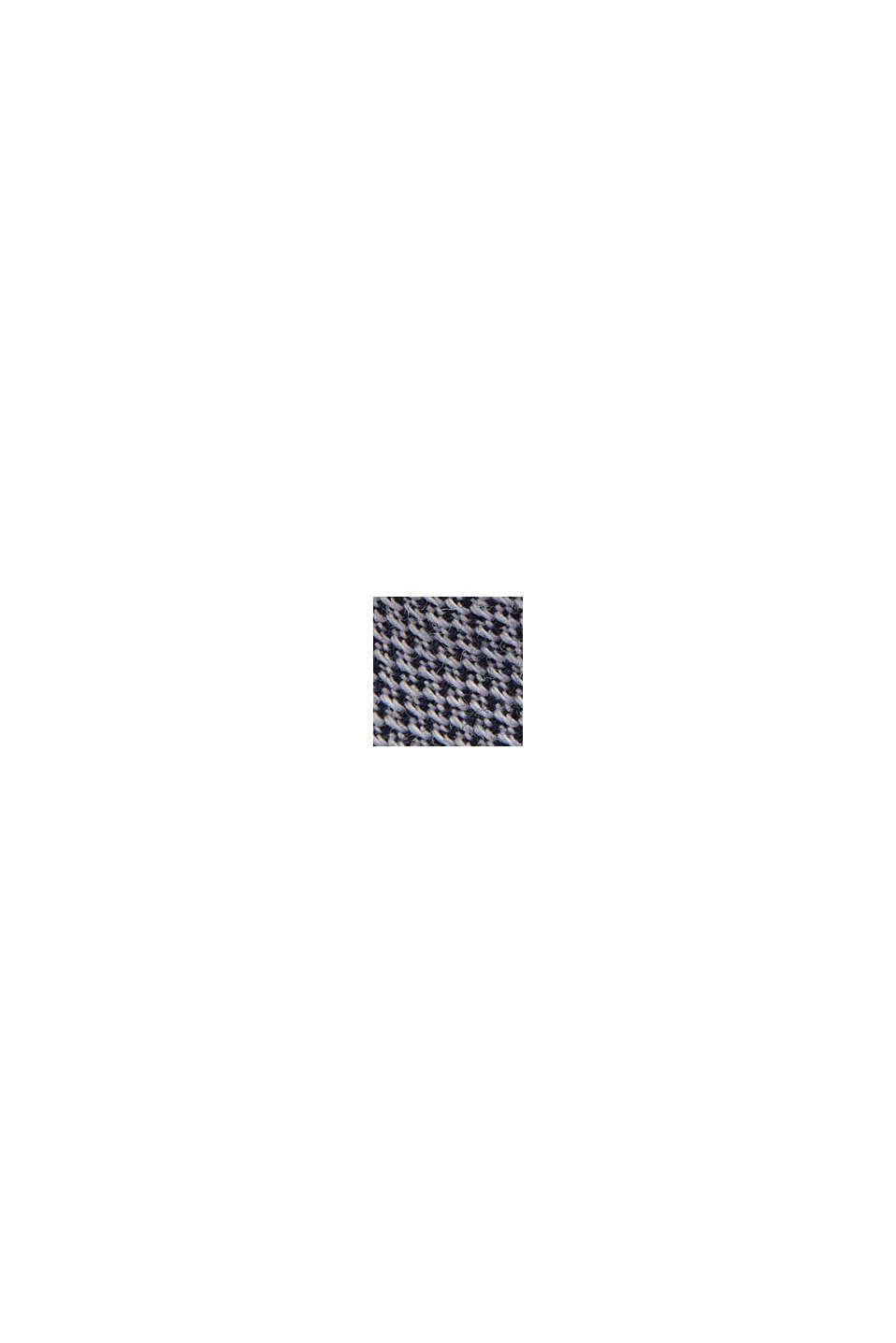 Overhemd van biologisch katoen met structuur, NAVY, swatch