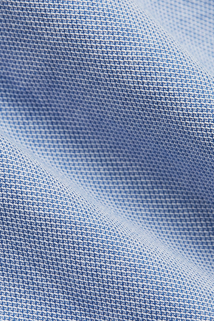 Textured shirt in organic cotton, LIGHT BLUE, detail image number 4