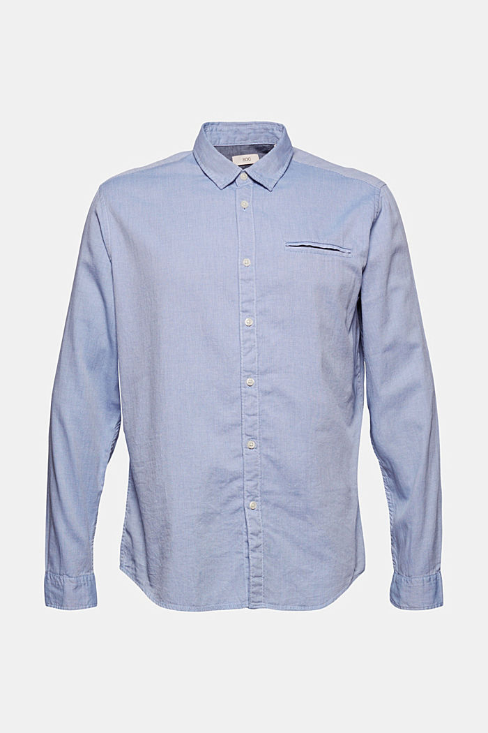 Textured shirt in organic cotton, LIGHT BLUE, detail image number 6
