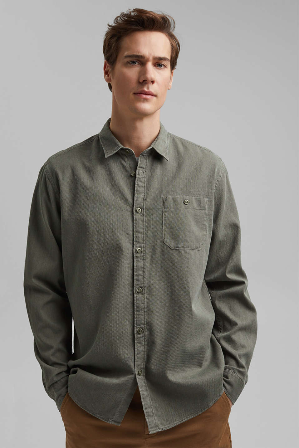 edc - Textured shirt made of 100% cotton