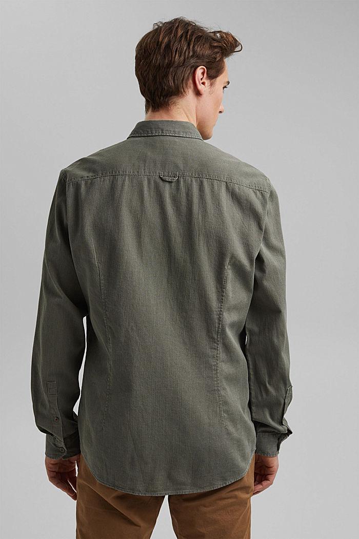 Textured shirt made of 100% cotton, KHAKI GREEN, detail image number 3