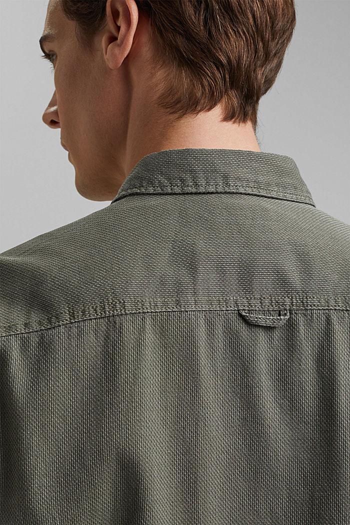 Textured shirt made of 100% cotton, KHAKI GREEN, detail image number 5